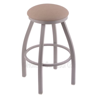 Cragin 36 Swivel Bar Stool Finish: Anodized Nickel, Upholstery: Black Vinyl
