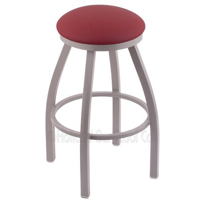 Cragin 25 Swivel Bar Stool Finish: Anodized Nickel, Upholstery: Allante Wine