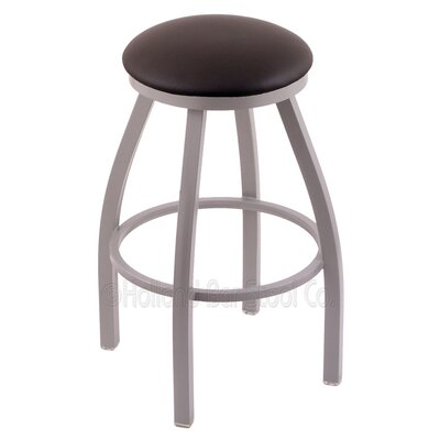 Cragin 30 Swivel Bar Stool Finish: Anodized Nickel, Upholstery: Allante Espresso