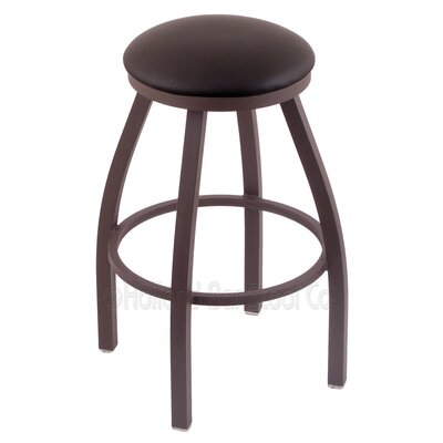 Cragin 36 Swivel Bar Stool Finish: Bronze, Upholstery: Allante Espresso