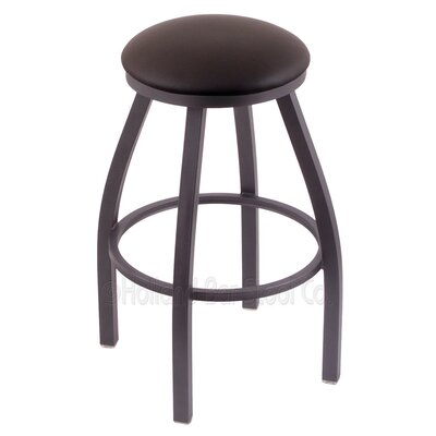Cragin 25 Swivel Bar Stool Finish: Pewter, Upholstery: Allante Espresso