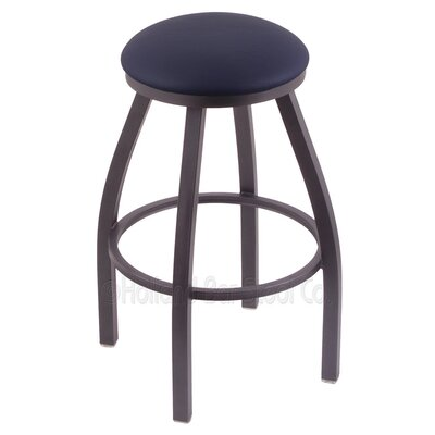 Cragin 25 Swivel Bar Stool Finish: Pewter, Upholstery: Allante Dark Blue