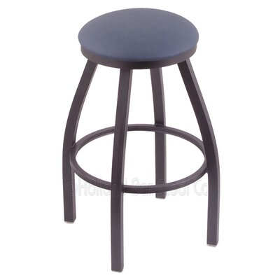 Cragin 30 Swivel Bar Stool Finish: Pewter, Upholstery: Rein Bay