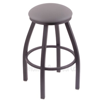 Cragin 25 Swivel Bar Stool Finish: Pewter, Upholstery: Allante Medium Grey