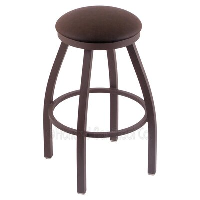 Cragin 25 Swivel Bar Stool Finish: Bronze, Upholstery: Rein Coffee