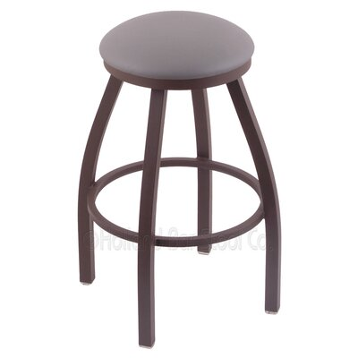 Cragin 36 Swivel Bar Stool Finish: Bronze, Upholstery: Allante Medium Grey