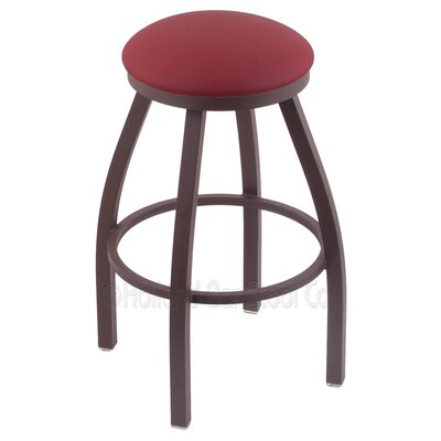 Cragin 36 Swivel Bar Stool Finish: Bronze, Upholstery: Allante Wine