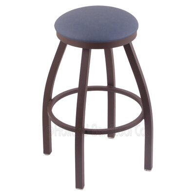Cragin 36 Swivel Bar Stool Finish: Bronze, Upholstery: Rein Bay