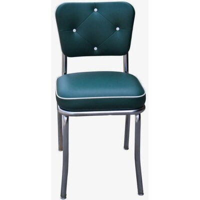 Arendt Side Chair Upholstery: Green