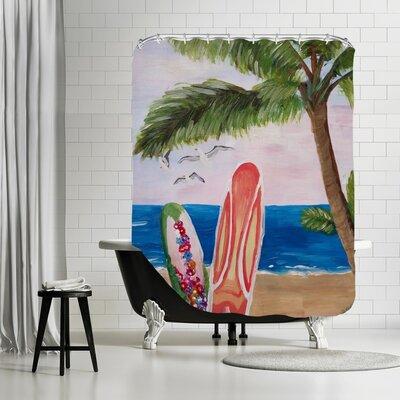 Markus Bleichner Hannibal Surfboards Beach Shower Curtain