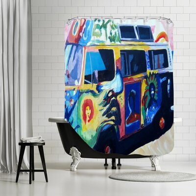Markus Bleichner Elmsford The Here Comes the Sun Surf Bus Shower Curtain