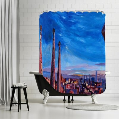 Markus Bleichne Apel Barcelona Sagrada Shower Curtain