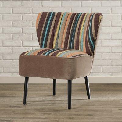 Gelston Slipper Chair Upholstery: Multi Striped