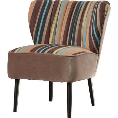 Gelston Striped Fabric Slipper Chair Color: Multi Striped