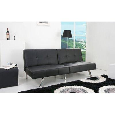 Rosehill Convertible Sofa Upholstery: Black