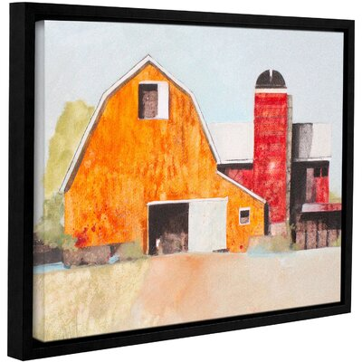 Barn No. 3 Framed Painting Print on Wrapped Canvas Size: 14