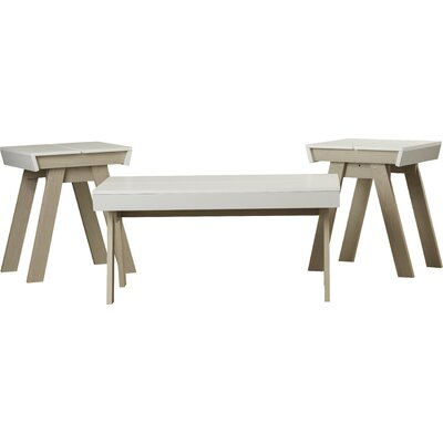 Downer 3 Piece Coffee Table Set