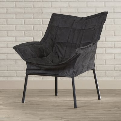 Weccacoe Lounge Chair Color: Black