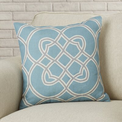 Stout Stay Connected Throw Pillow Size: 18 H x 18 W x 4 D, Color: Cameo Blue / Dove Gray / Parchment, Filler: Down