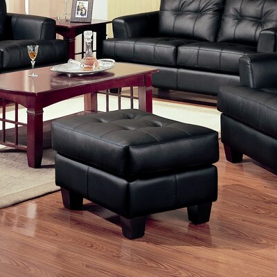Kedzie Leather Storage Ottoman Upholstery: Black