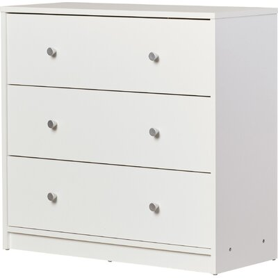 Coles 3 Drawer Dresser Color: White