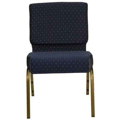 Jackston Stacking Guest Chair Frame Finish: Gold Vein, Seat Finish: Navy Blue Dot Patterned