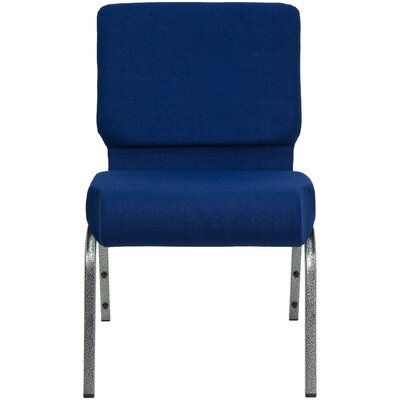 Jackston Stacking Guest Chair Frame Finish: Silver, Seat Finish: Navy Blue