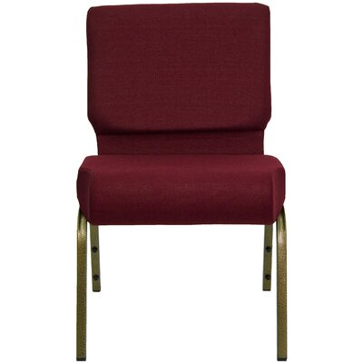 Jackston Stacking Guest Chair Frame Finish: Gold Vein, Seat Finish: Burgundy