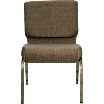 Jackston Stacking Guest Chair Frame Finish: Gold Vein, Seat Finish: Brown