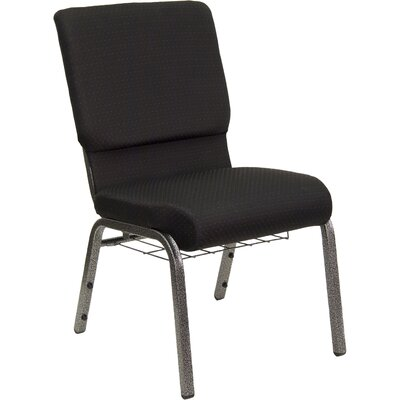 Flatiron Guest Chair Frame Finish: Silver, Seat Finish: Black