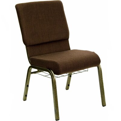 Flatiron Guest Chair Frame Finish: Gold Vein, Seat Finish: Brown