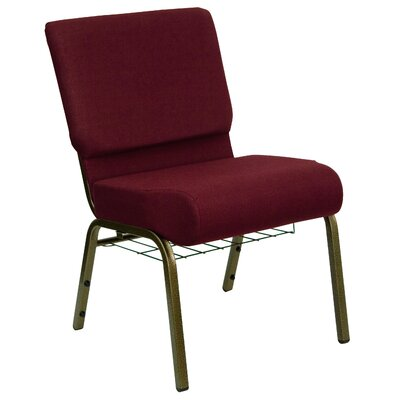 Flatiron Guest Chair Frame Finish: Gold Vein, Seat Finish: Burgundy