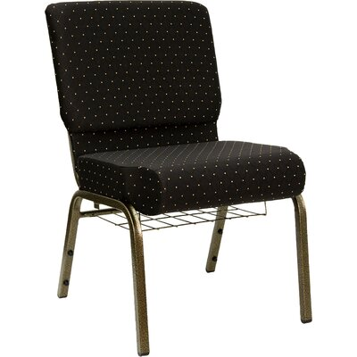 Flatiron Guest Chair Frame Finish: Gold Vein, Seat Finish: Black Dot Patterned