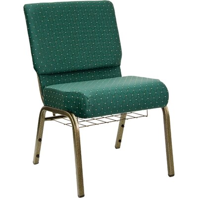 Flatiron Guest Chair Frame Finish: Gold Vein, Seat Finish: Hunter Green Dot Patterned