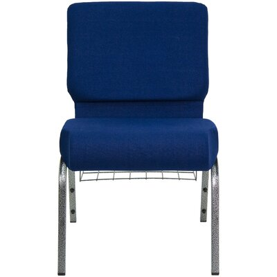 Flatiron Guest Chair Frame Finish: Silver, Seat Finish: Navy Blue