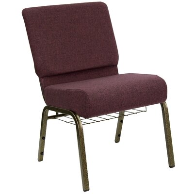 Flatiron Guest Chair Frame Finish: Gold Vein, Seat Finish: Plum