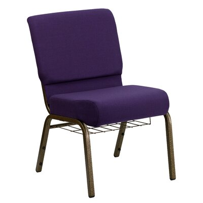 Flatiron Guest Chair Frame Finish: Gold Vein, Seat Finish: Royal Purple