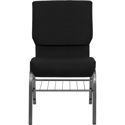 Jackston Upholstery Guest Chair Frame Finish: Silver Vein Metal, Seat Finish: Black