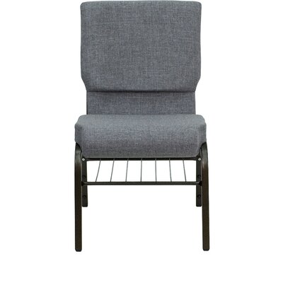 Jackston Upholstery Guest Chair Frame Finish: Gold Vein Metal, Seat Finish: Navy Blue Dot Patterned
