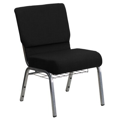 Jackston Guest Chair with Book Rack Seat Finish: Black