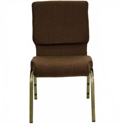 Jackston Stacking Guest Arm Chair Frame Finish: Gold Vein, Seat Finish: Brown