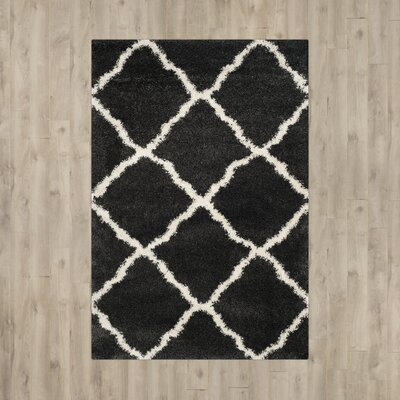 Cherry Street Charcoal / Ivory Area Rug Rug Size: Rectangle 8'6