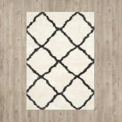 """Cherry Street Ivory / Charcoal Area Rug Rug Size: Rectangle 8'6"""" x 12' VKGL2617 27006524"""