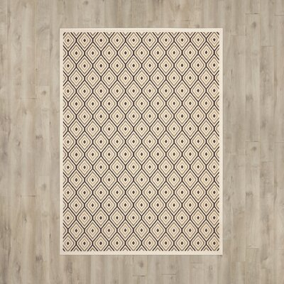 Armenta Cream / Chocolate Area Rug Rug Size: Rectangle 53 x 77