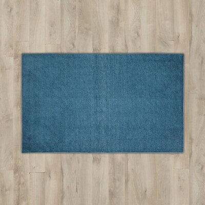 Torresdale Dark Blue Solid Area Rug