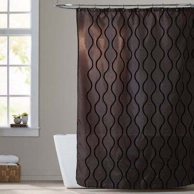 West Drive Shower Curtain Color: Brown / Black