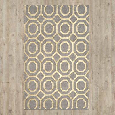 Columbus Circle Hand-Woven Brown/Ivory Area Rug Rug Size: Square 6