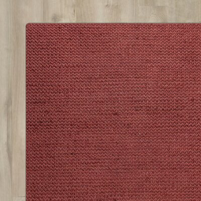 Allegan Hand-Loomed Red Area Rug Rug Size: Runner 26 x 8