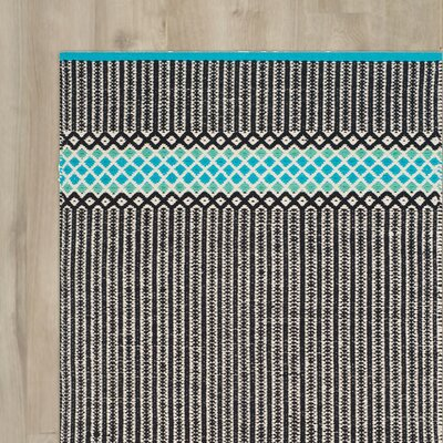 Shevchenko Place Hand-Woven Turquoise Area Rug Rug Size: Rectangle 6 x 9