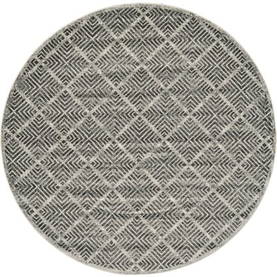 Beech Hill Castle/Taupe Area Rug Rug Size: Round 8